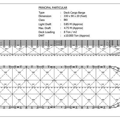 ±10000 DWT – Deck Cargo Barge – BKI Class