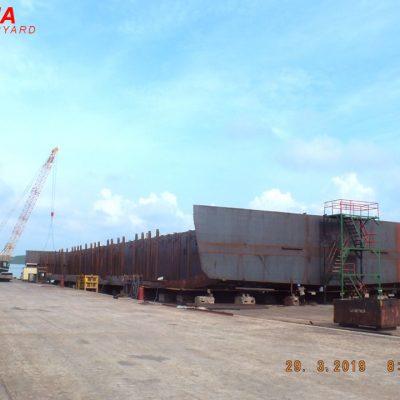 ±8000 DWT – Deck Cargo Barge – BKI Class