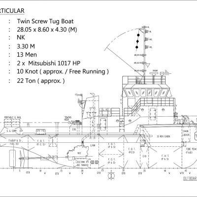 Tugboat 28 M – 2 x 1017 HP – NK Class
