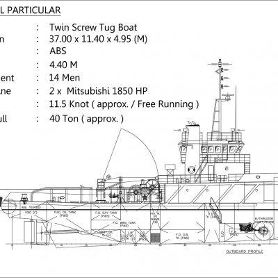 Tugboat 37 M – 2 x 1850 HP – ABS Class