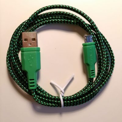 Micro USB Android Sync & Charger Cable – Green