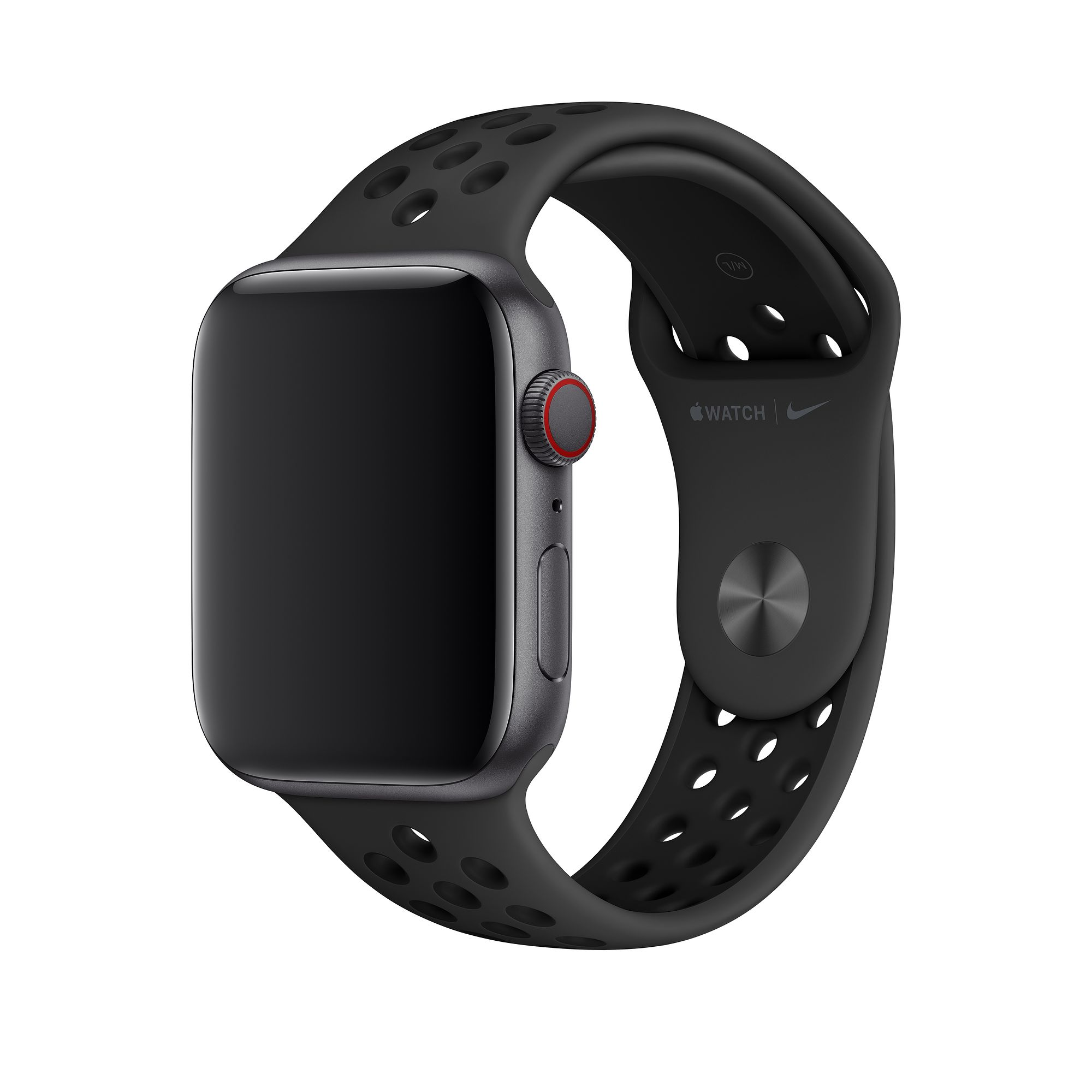 42mm Apple Watch 3 – Band Soft Silicone Sports – Black + White