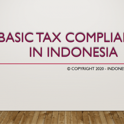 Basic tax compliance in Indonesia