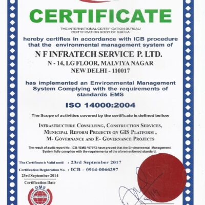 Certificate ISO 14000 : 2004